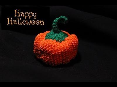 Zucca Halloween all'uncinetto, per decorare casa e tavola
