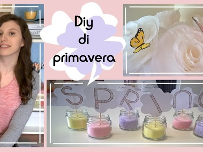 Diy di primavera.idee e decorazioni.fiori di carta crespa, farfalle. Collab. with FASHIONMAIA