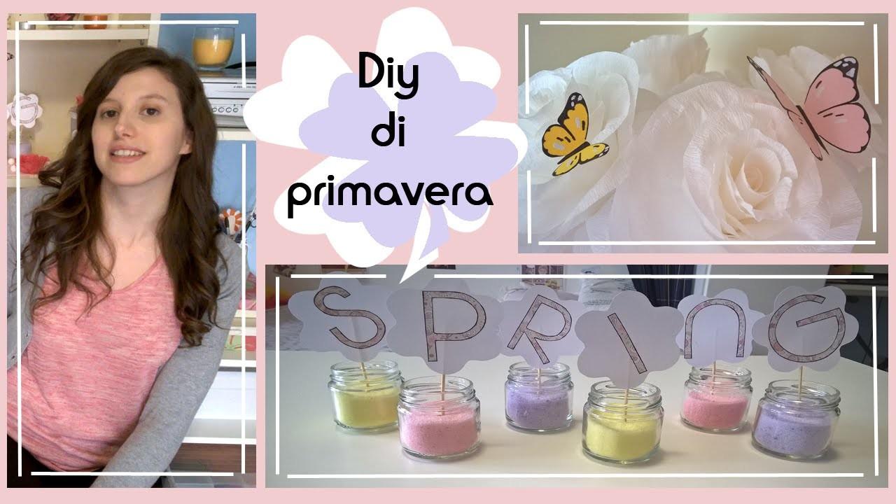 Diy di primavera.idee e decorazioni.fiori di carta crespa, farfalle. Collab. with FASHIONMAIA