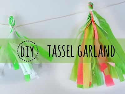 DIY Ghirlanda con carta velina - Tassel garland