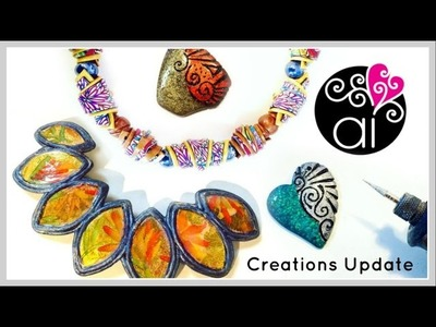 Creations Update | Polymer Clay | Resin | Wire Wrapping