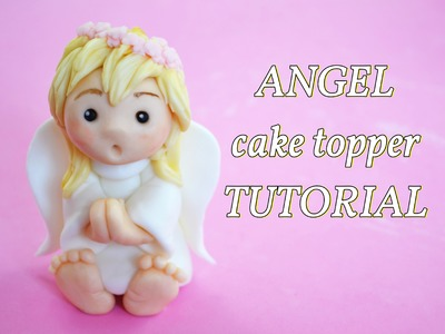 Simple angel baptism cake topper - angelo in pasta di zucchero per torta battesimo