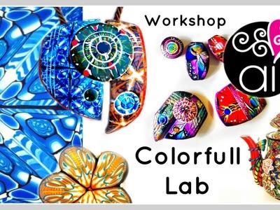 Colorfull Lab | Presentazione Workshop Paste Polimeriche | Murrine Caleidoscopio