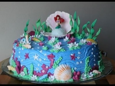 Tutorial per decorare la torta Sirenetta di Greedy Mermaid Cake sugar paste