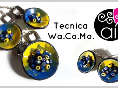 Watercolor Mosaic Effect | Polymer Clay Tutorial | Tecnica wa. co. mo.