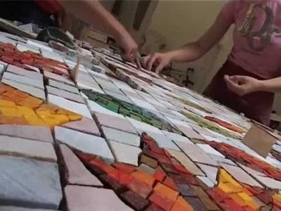 Pavimento in mosaico moderno
