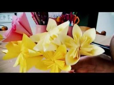 ❁3 PARTY DIY❁ Palloncino segnaposto, origami con fiore e tovagliette da cucina