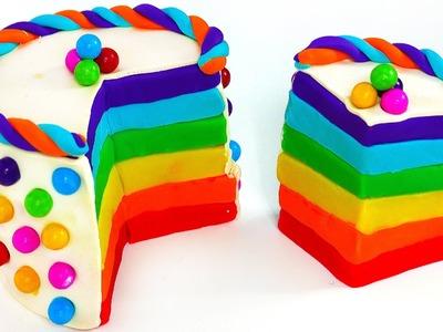 Play Doh Torta, Plastilina Pongo Giocattoli, Español, Play Doh Cake Rainbow!!!