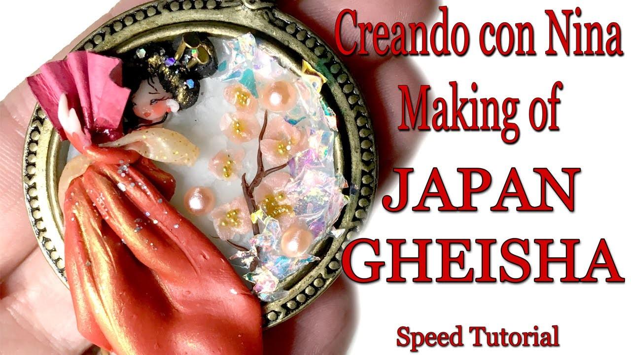 Speed Tutorial | PolymerClay JAPAN GHEISHA - NinaCreations