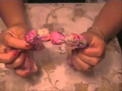 Trucco per creare un bracciale in stoffa