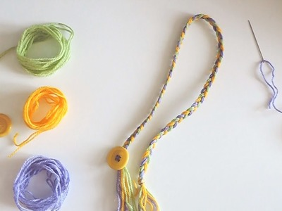 Segnalibro fatto a mano con filo e bottone - Tutorial