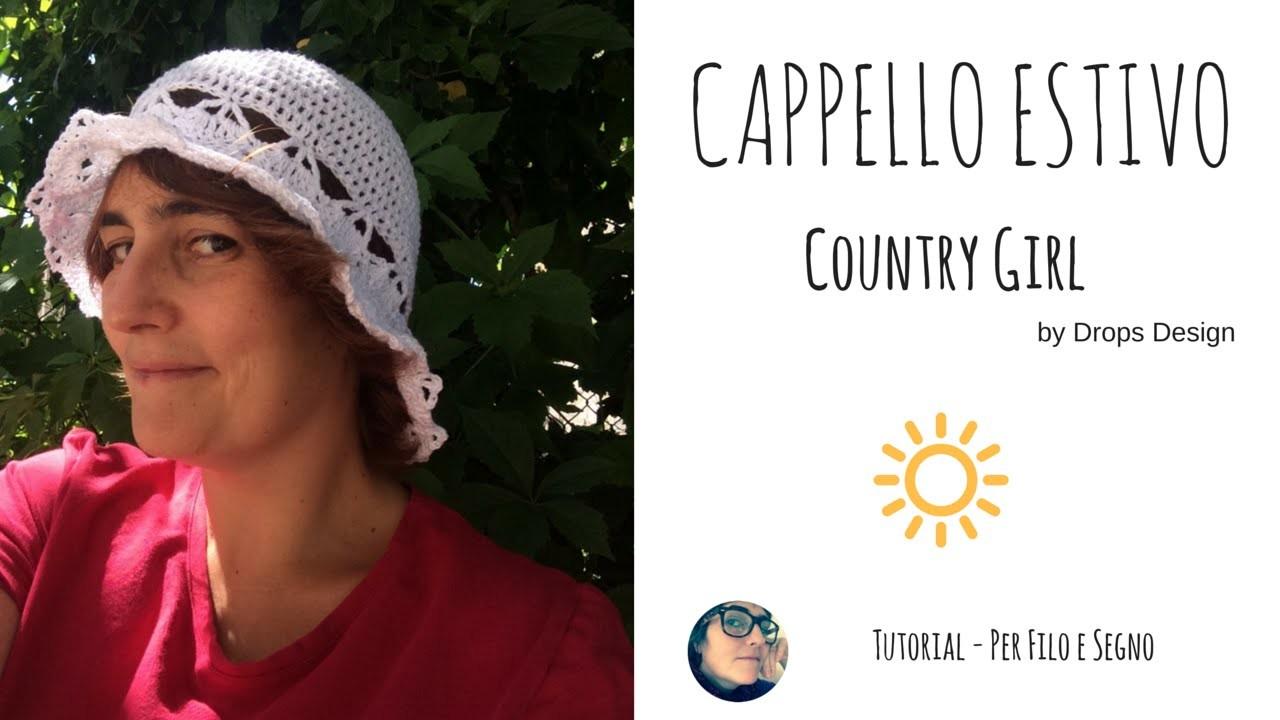 "Tutorial - Cappello Estivo ""Country Girl"" by Drops Design"