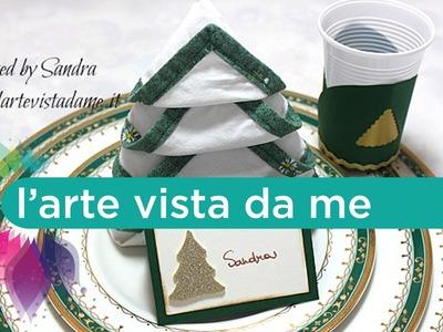 Portabicchieri di plastica in carta-Decorazione tavola-Natale fai da te-Plastic cup holders DIY