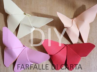 Tutorial Farfalle di carta  - Origami
