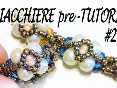 Chiacchiere pre-Tutorial #21 - Bracciale o anello con perle e bicono - Gioielli con perline