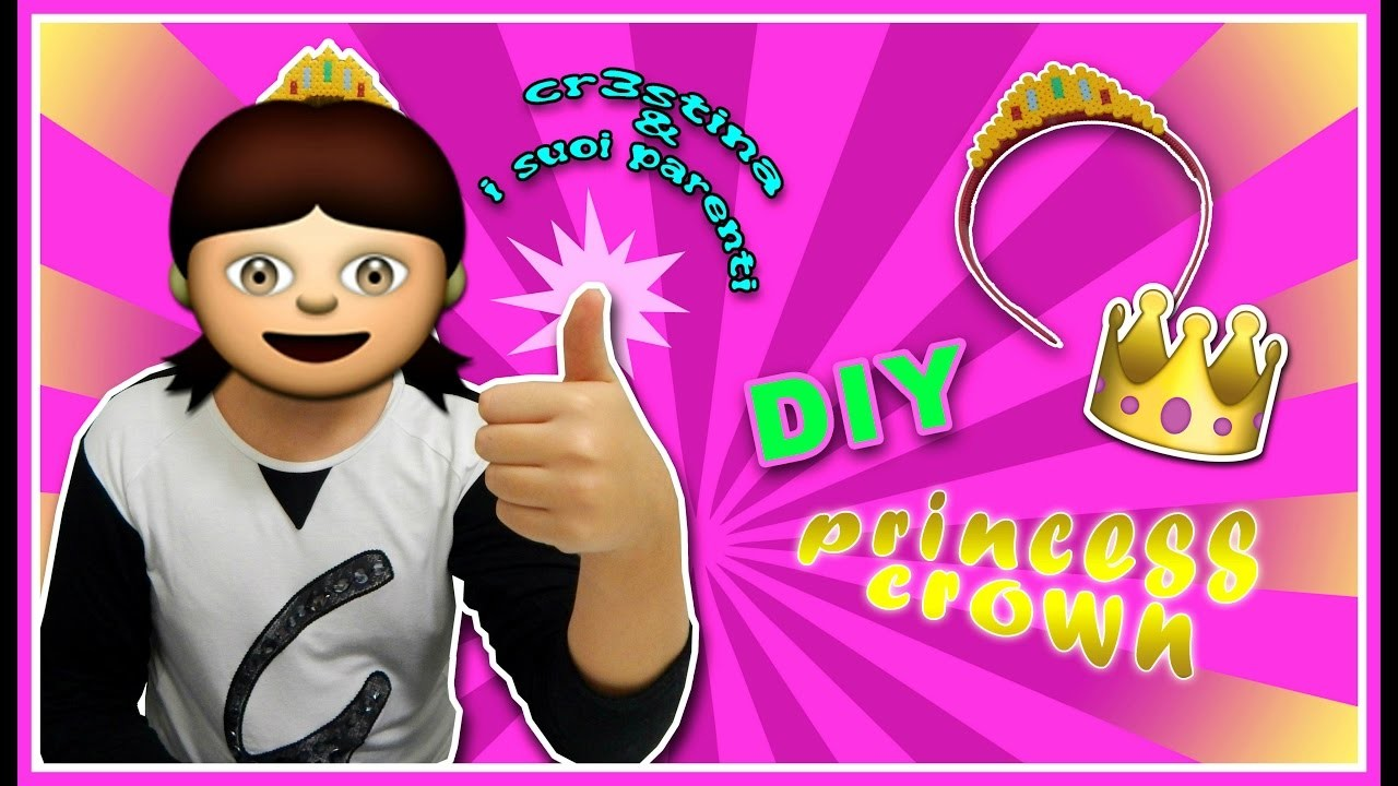 Cr3stina e i Suoi Parenti #1 - DIY Corona con HAMA BEADS.Pyssla Princess Crown Tutorial