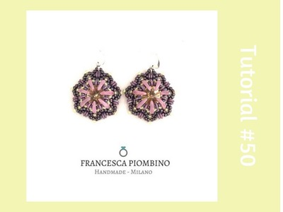 TUTORIAL PERLINE [50] - Orecchini Luana: rivoli 12mm, crescent, obeads. (Beading pattern)