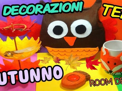 4 DECORAZIONI TEMA AUTUNNO PER LA STANZA (DIY ROOM DECOR ) Iolanda Sweets