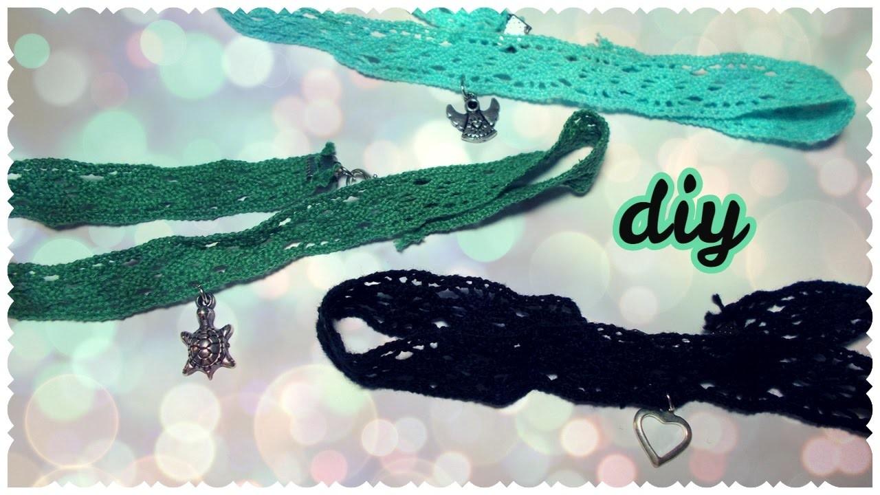 DIY: Collana Choker con Ciondolo. Choker Necklace with Pendant   Collab. DoreenBeads.com