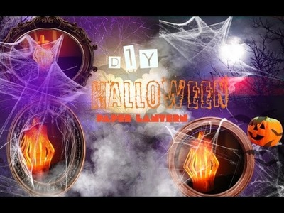 Diy halloween decor: paper lantern