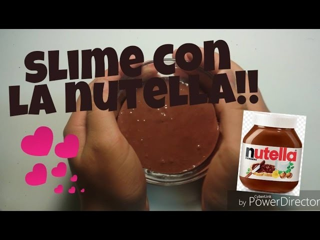 DIY Slime Con La Nutella!!Tutorial Slime Nutelloso