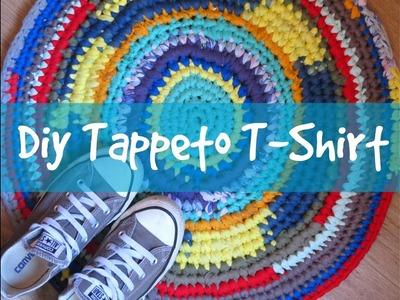 DIY TAPPETO T-SHIRT CROCHET per principianti