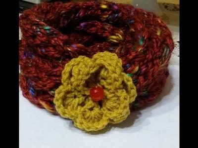 """Scaldacollo """"maglia con le dita"""".Scarf """"knitting with fingers"""".Bufanda """"tejer con los dedos"""""""
