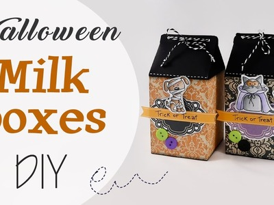 Tuto: Scatole Milk halloween - ENG SUBS Halloween Milk Boxes DIY