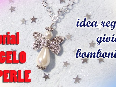 Tutorial angelo di perle (idea regalo, bomboniera, decorazione) - DIY pearl angel