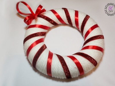 Tutorial: Ghirlanda di Lana per Natale (ENG SUBS - DIY Christmas wool wreath)