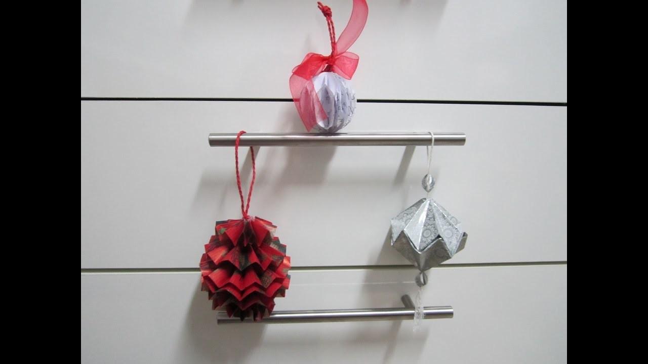 DIY 3 palline di Natale con la carta