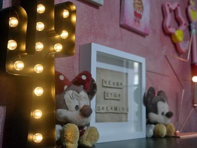 * DIY * Home Decor Cornice con lettere dello scarabeo || Elena Dreamer