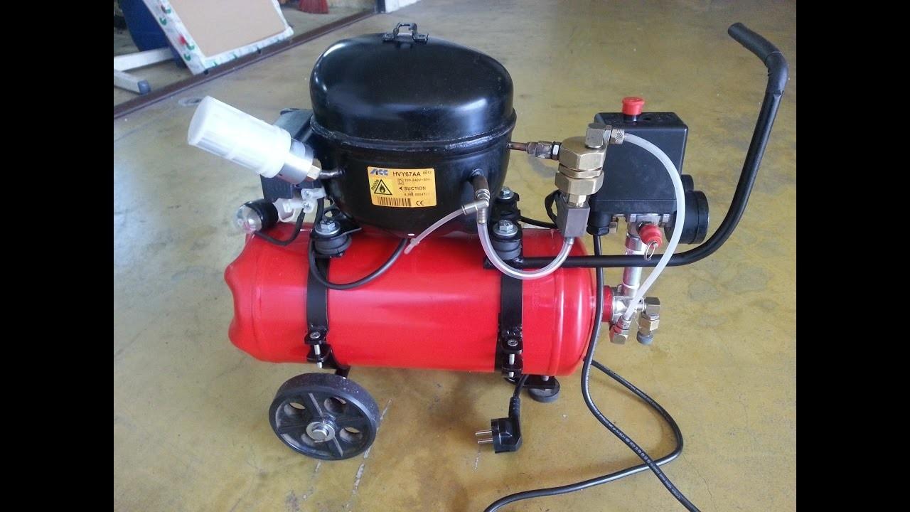 DIY - Mini Silent Air Compressor