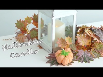 Halloween candle pumpkin - DIY - Candela zucca, facile SENZA STAMPO - #hobbyhandconvoi