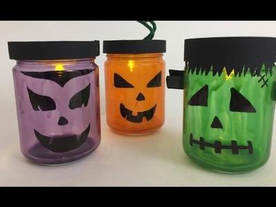 Lanterne di Halloween con i barattoli - Tutorial