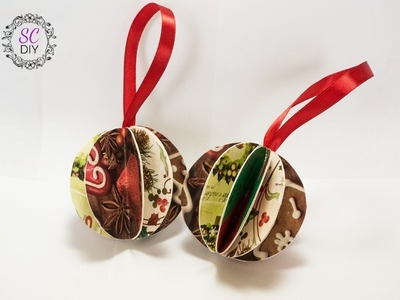 Tutorial: Palline di Natale con Carta da Regalo (ENG SUBS - DIY Christmas balls with wrapping paper)
