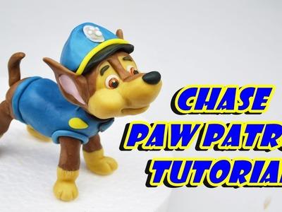 Chase PAW PATROL cake topper fondant - tutorial cane pasta di zucchero torta sugar paste