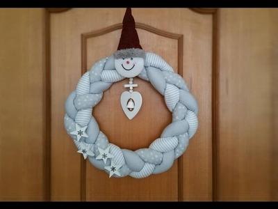 Ghirlanda o Dietro porta natalizia   intrecciata