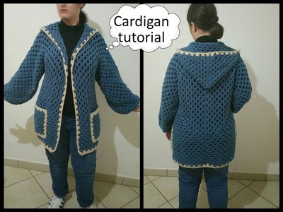 Giacca uncinetto donna.CARDIGAN CROCHET