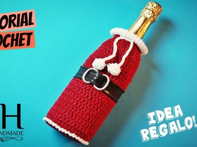 [IDEA REGALO] Tutorial uncinetto borsa per bottiglia | Crochet bag bottle || Katy Handmade