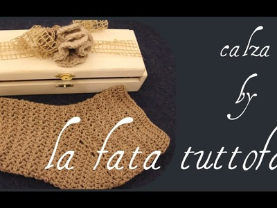 Tutorial: calza unisex all'uncinetto