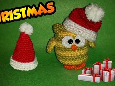 Tutorial Cappellino Babbo Natale Uncinetto -Chapéu de Papai Noel Croche - Sombrero Santa Claus
