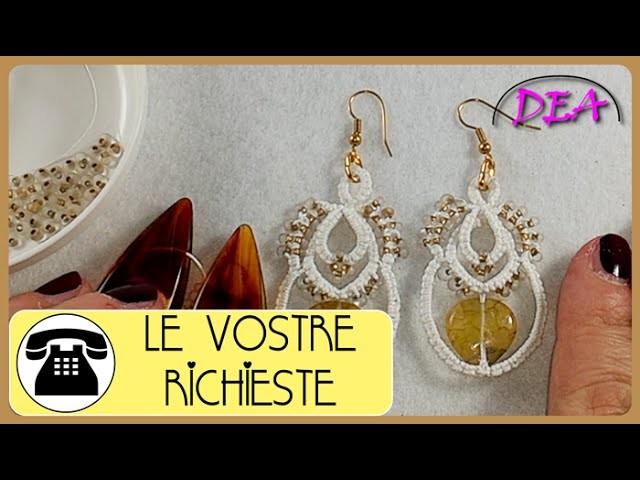 Chiacchierino a Navette -  Orecchini: Archi e Cerchi con perline a coppie e a quartetto