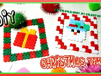 Decorazioni Natalizie FAI DA TE con Perline HAMA BEADS.PYSSLA - DIY CHRISTMAS TIME Tutorial