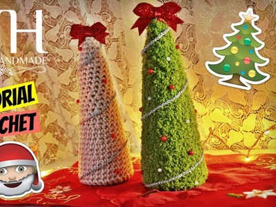 [DECORAZIONI] Tutorial uncinetto albero di Natale | Crochet Christmas tree || Katy Handmade