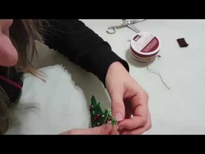 DIY tutorial albero di Natale in feltro