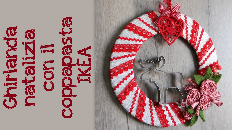 Ghirlanda di natale fai da te tutorial - Ghirlanda natalizia per porta fai da te ...