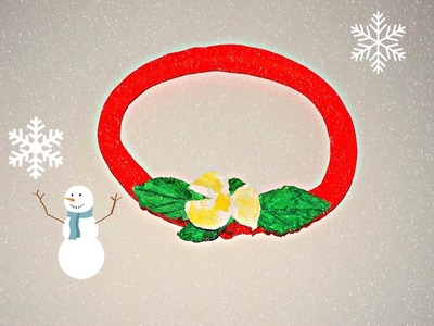 ♥GHIRLANDA NATALIZIA facile CON PASTA MODELLABILE♥-Christmas wreath DIY