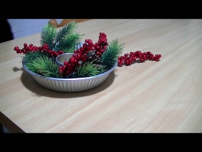 ★RUBRICA NATALE★ Diy Christmas Centerpiece - Tutorial CENTROTAVOLA NATALE