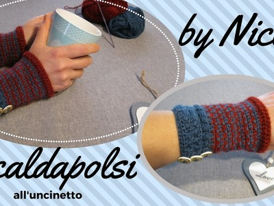 Scaldapolsi all'uncinetto - Crochet wrist warmers